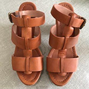 Madewell Irving Wood Block Heel Sandal 7.5